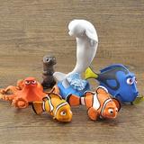 Kit 6 Disney Pixar Miniaturas Bonecos Procurando Dory Nemo
