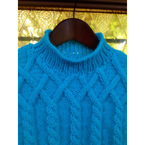 Sweater Pullover Tejido A Mano, Talle 3/4 Años