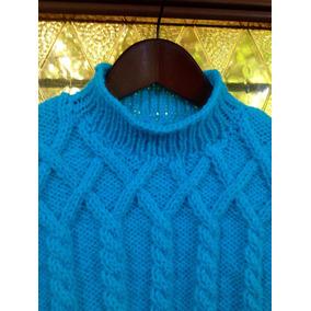 Sweater Pullover Tejido A Mano, Talle 3/4 Años