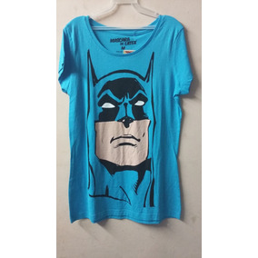 Playera Mascara De Latex Mujer Batman