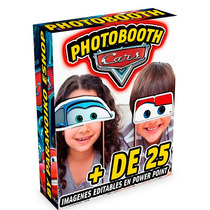 Megapack Photo Booth Fiesta Infantil Cars Rayo Mcqueen Nuevo