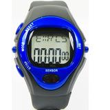 Relógio Sensor Medidor Caloria Frequência Cardíaca - Azul