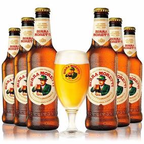 Cerv. Birra Moretti Italiana 4 Unds. De 330ml + 1 Linda Taça