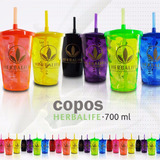 Kit Com 30 Unid Copo Acrílico Personalizado Herbalife