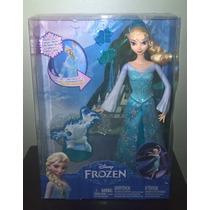 Boneca Elsa Em Ação - Poder De Gelo - Disney Frozen - Mattel