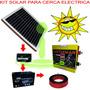 Impulsor Cerca Eléctrica Kit Solar 80 Km 700 Ha 2,5j Cr480pe