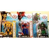 Set Muñecos Transformers X 3 O. Prime Bumblebee Grimlock