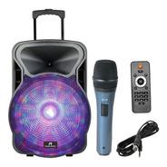 Parlante Karaoke 100w Bluetooth Usb Bateria + Microfono
