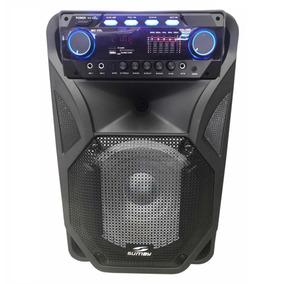 Caixa Som Amplificada 2000w Bluetooth Microfo S/ Fio Bateria