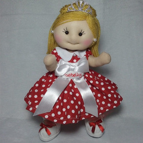 Boneca Princesa Personalizada Decoração Enfeite
