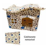 Casinha Para Cachorro Casa Cama Toca Pet Luxo Fazenda Azul