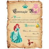 Festa Ariel Pequena Sereia Convite Aniversário C/30 N