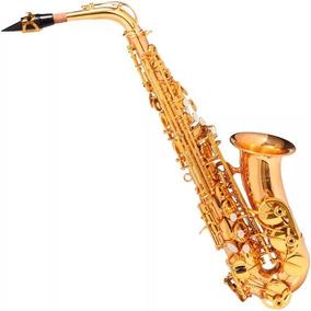 Saxofone Sax Alto Michael Dourado Wasm48 Em (eb) Com Case