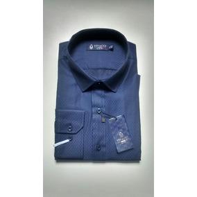 Camisa Social Slim Fit Vivacci Com Fibra De Modal.