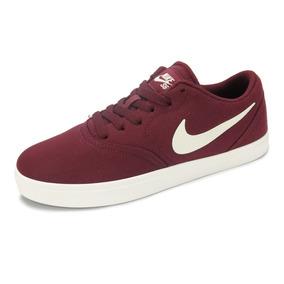Tênis Nike Sb Feminino Check Canvas Bordô - 905373-601