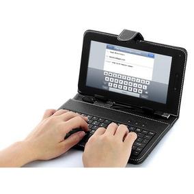 Capa Teclado Preta P/ Tablet Multilaser 7 Polegadas V8 Usb