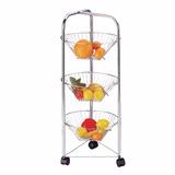 Carro Mueble Cocina Frutas Verduras Bajo Mesada Redondo 6ct