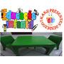 Mesinha Infantil Verde Com 2 Cadeiras Cadeirinha De Plastico