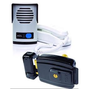 Kit Interfone Porteiro Eletrônico Agl + Fechadura Elétrica