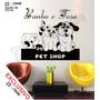 Adesivo Papel Parede Banho Tosa Pet Shop Veterinario +brinde