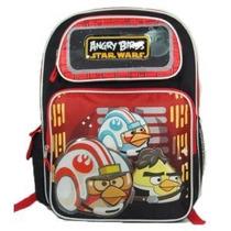 Rojo Angry Birds Star Wars Mochila Libro Del Bolso De Escue
