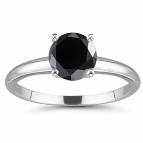 Anillo Con Diamante Negro Jet 2.69 Qt Certificado #7