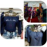 Blusas,camisa,llanera,escotada,a La Moda,chiffon,rayon,jean,