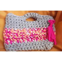 Cartera Bolso Crochet Totora Artesanal Playa Gym Ecológico