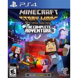 Minecraft Modo Historia Complete Adventure Ps4 Físico Disco