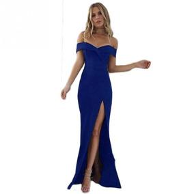 Vestido De Fiesta Largo Elastizado Stock Envios Gratis #101
