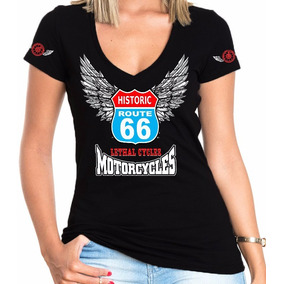Camisa Feminina Motociclista Lethal Cycles Modelo 02