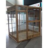 Vendo Mini Tienda En Alumio Y Vidrio Revestida En Madera