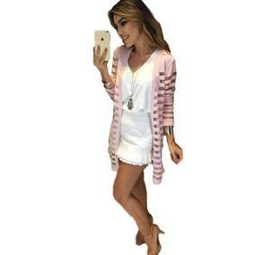 Blazer Longo Tipo Kimono Com Trasnparencia Lançamento