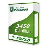 Planilhas Prontas 3450 Planilha Excel 100% Editáveis + Curso
