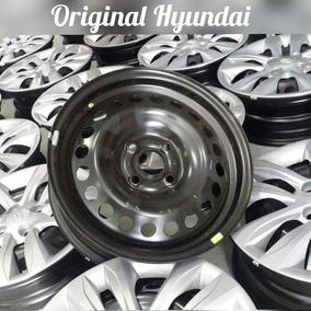 Jogo De Roda Ferro Hb20 Hyundai Semi Nova 15 4x100 C Calotas