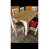Comedor 6 Sillas Blanco Vintage - Todo para Comedor en Mercado Libre ...
