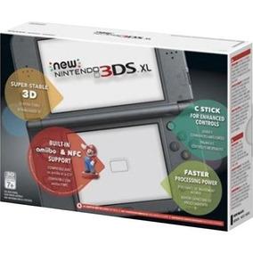 New Nintendo 3ds Xl Preto Original Lacrado + Fonte Brinde