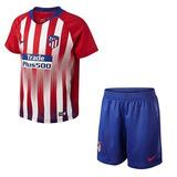 eb3a4c90d4302 Kit Infantil Atletico De Madrid Camisas Futebol Times Espanhois ...