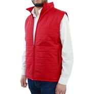 Chaleco Rosso Corsa Térmico Invierno Capitonado Horizontal