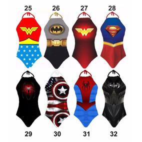 Body Mulher Maravilha Batman Super Man Herois Super Girl Bat