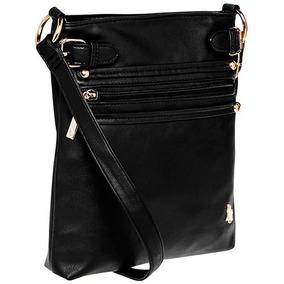 Bolsa Crossbody Para Dama Polo Negro 100% Original 78441