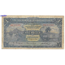 * Trinidad And Tobago - 1 Dollar 2.1.1939 - P.5b - Bc *