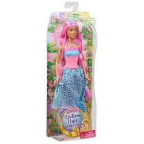 Barbie Reino De Peinados Magicos Surtido Cabello Rosa