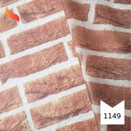 Tnt Estampado Tijolinho Tijolo Bloco Arte 1,4m X 2 Metros