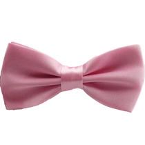 Gravata Borboleta Rosa Bebê Com Regulador Adulto E Infantil