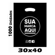 Sacolas Plásticas Personalizadas 30x40 / 1000 Un Promoção