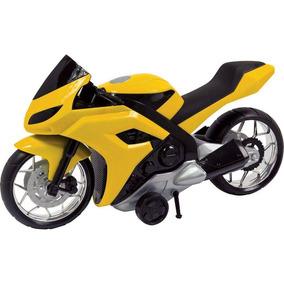 Moto Evolution 44cm Fricção 186 - Bs Toys - Amarelo