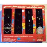 Juego 4 Botellas 80 Años Cocacola En Colombia