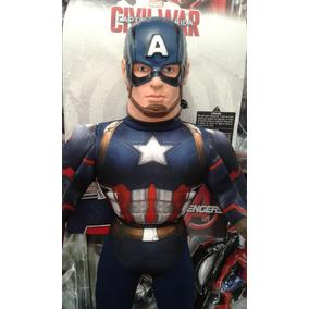 Muñeco Peluche Soft Capitan America - Original Gigante 56 Cm