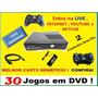 Xbox 360 Slim 4gb + 2 Controles Sem Fio + 30 Jogos Dvd +live